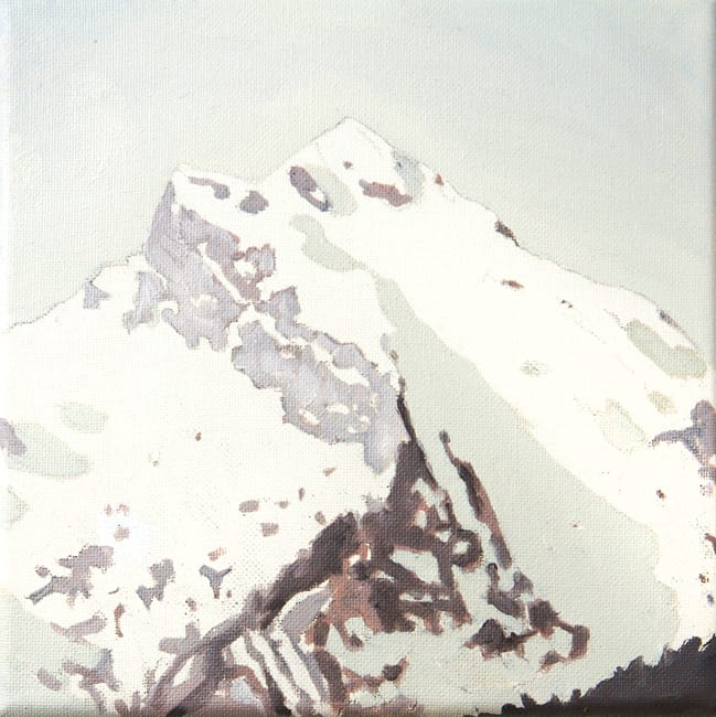 Summit. Oil on canvas, 20 x 20 cm, 2016