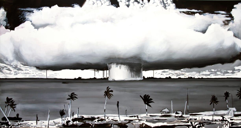 Operation Crossroads I. Acrylic on canvas, 200 x 107 cm, 2014