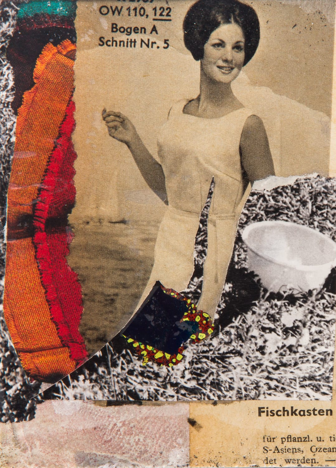 Bogen A. Collage on acrylic, magnet, 9 x 11 cm, 2018