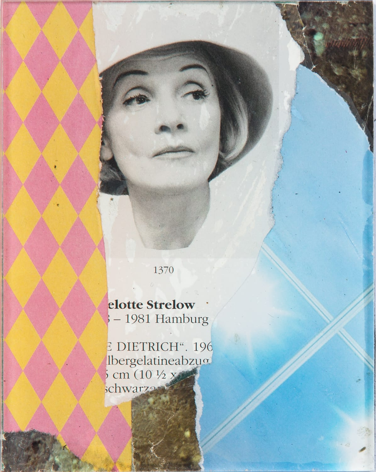 Marlene. Collage on acrylic, magnet, 9 x 11 cm, 2018