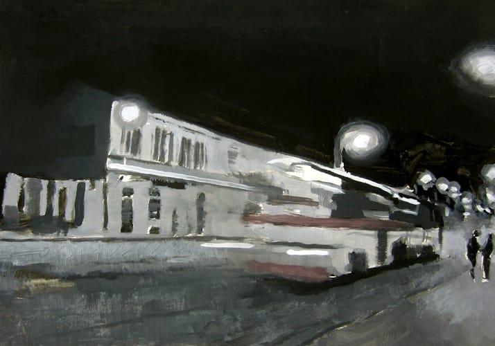 Frühling I.  Gouache on paper, 100 x 70 cm,  2011