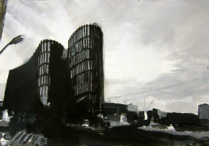 Frühling III.  Gouache on paper, 100 x 70 cm,  2011