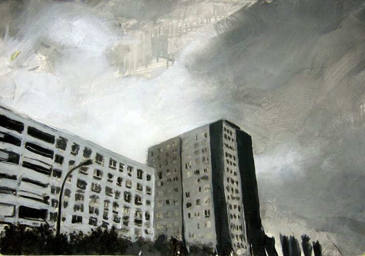 Frühling V.  Gouache on paper, 100 x 70 cm,  2011