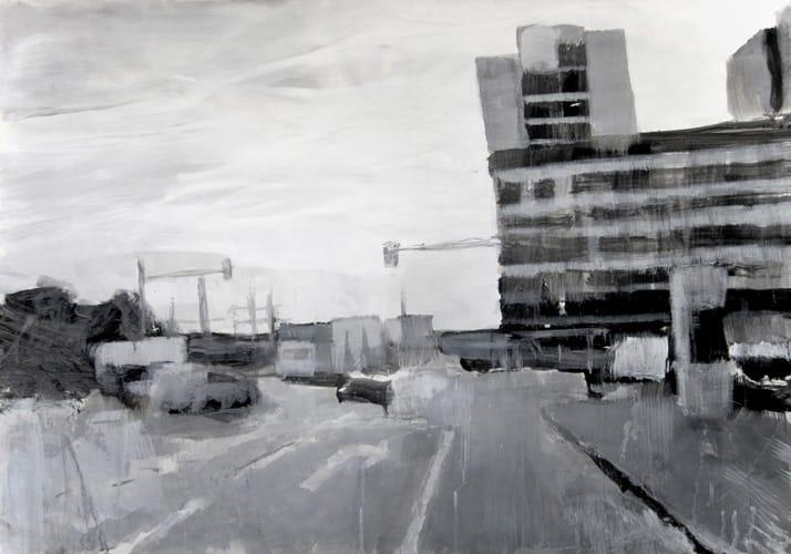 Herbst I.  Gouache on paper, 100 x 70 cm,  2011