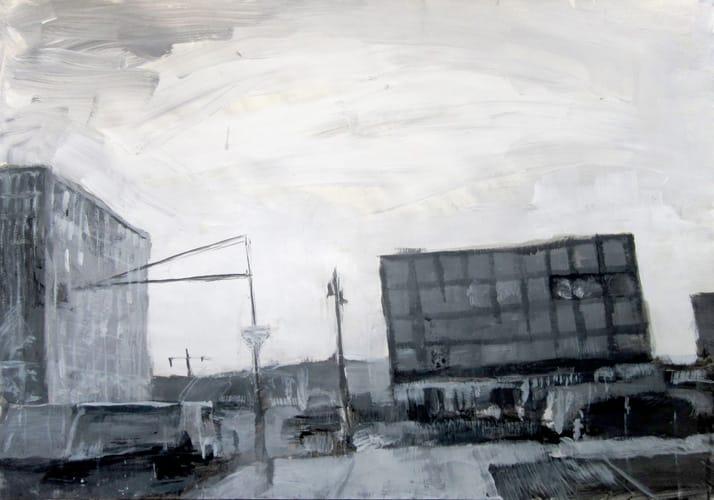 Herbst II.  Gouache on paper, 100 x 70 cm,  2011