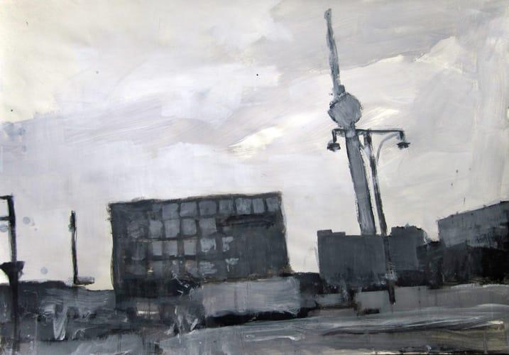 Herbst III.  Gouache on paper, 100 x 70 cm,  2011