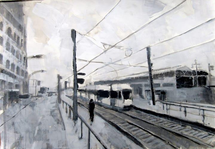 Herbst V.  Gouache on paper, 100 x 70 cm,  2011