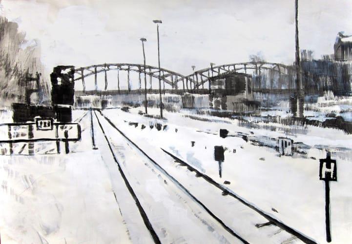 Winter I.  Gouache on paper, 100 x 70 cm,  2011