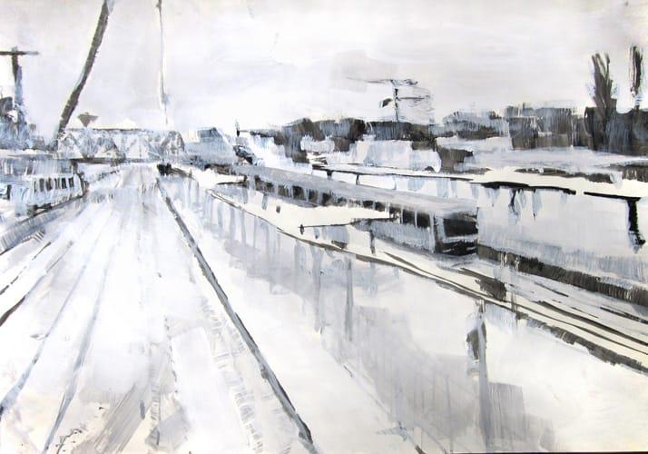 Winter IV.  Gouache on paper, 100 x 70 cm,  2011