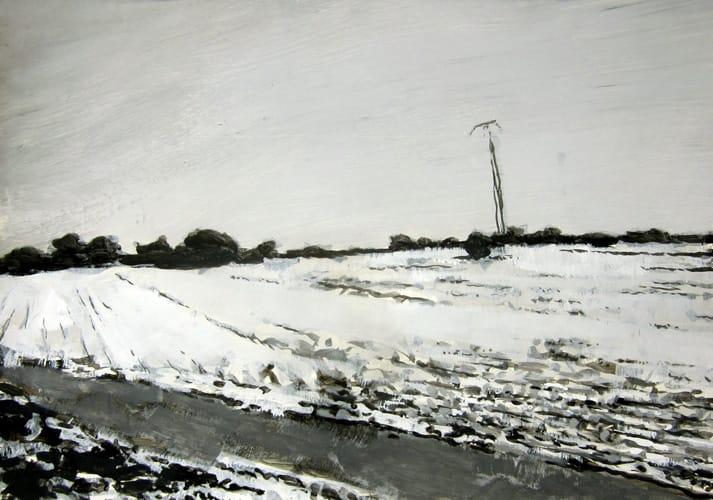Winter VI.  Gouache on paper, 100 x 70 cm,  2011