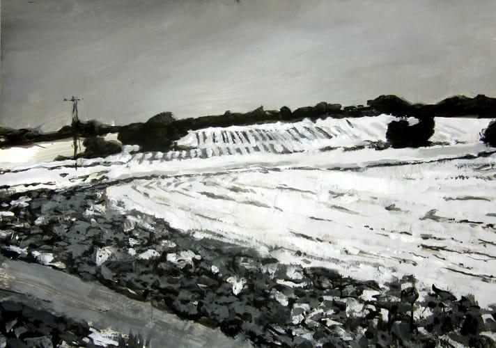 Winter VII.  Gouache on paper, 100 x 70 cm,  2011