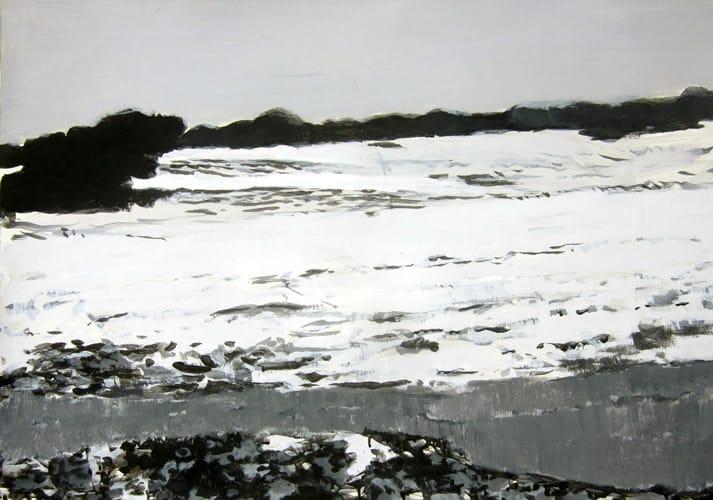 Winter VIII.  Gouache on paper, 100 x 70 cm,  2011