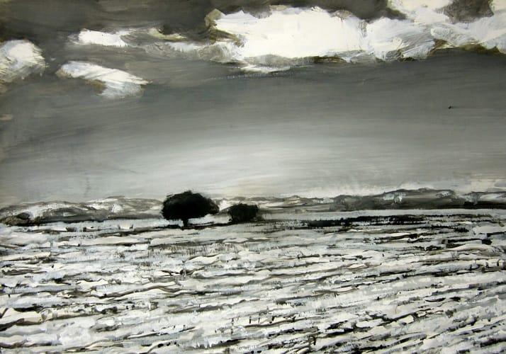 Winter IX.  Gouache on paper, 100 x 70 cm,  2011
