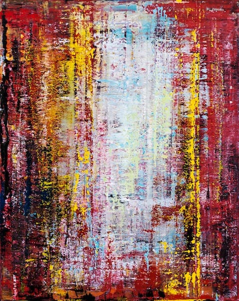 Interference patterns 2-1. Oil on canvas, 80 x 100 cm, 2014