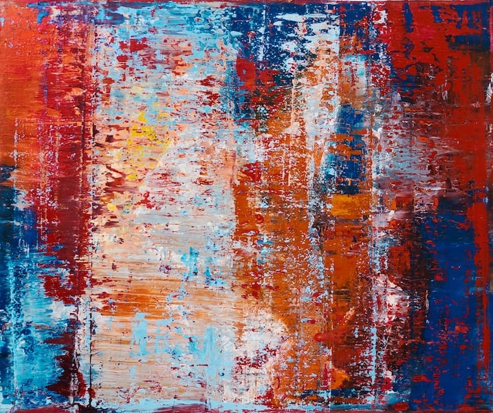 Interference patterns 3-2. Oil on canvas, 100 x 120 cm, 2014