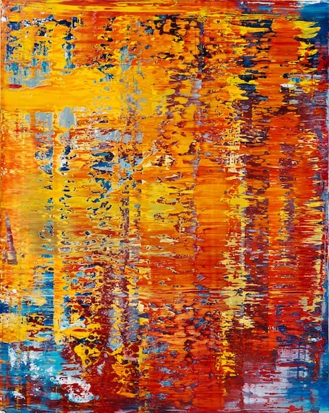Interference patterns 4-3. Oil on canvas, 80 x 100 cm, 2014
