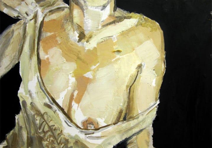 Live Show 01.  Oil on wood, 60 x 42 cm,  2011