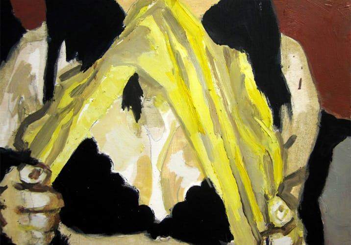 Live Show 03.  Oil on wood, 60 x 42 cm,  2011