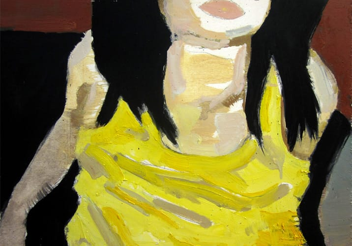 Live Show 04.  Oil on wood, 60 x 42 cm,  2011