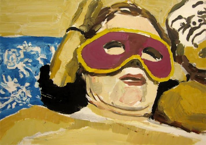 Live Show 06.  Oil on wood, 60 x 42 cm,  2011
