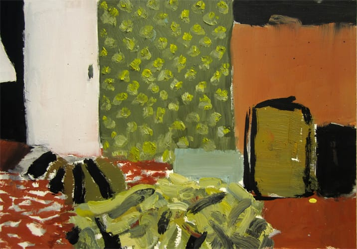 Live Show 07.  Oil on wood, 60 x 42 cm,  2011