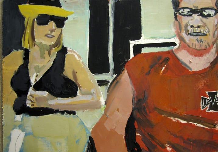 Live Show 08.  Oil on wood, 60 x 42 cm,  2011