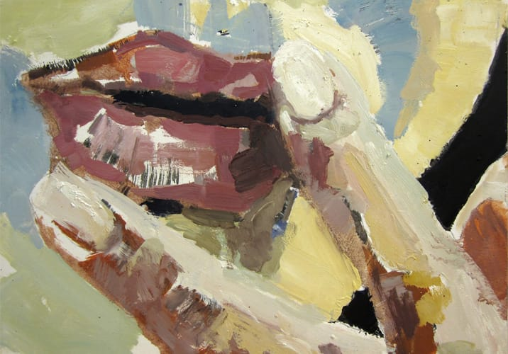 Live Show 10.  Oil on wood, 60 x 42 cm,  2011