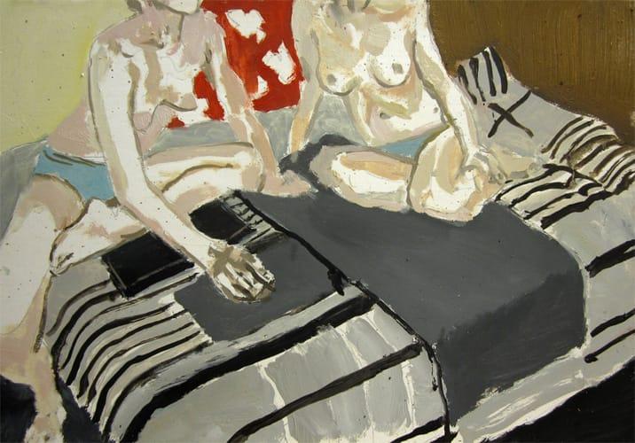 Live Show 15.  Oil on wood, 60 x 42 cm,  2011