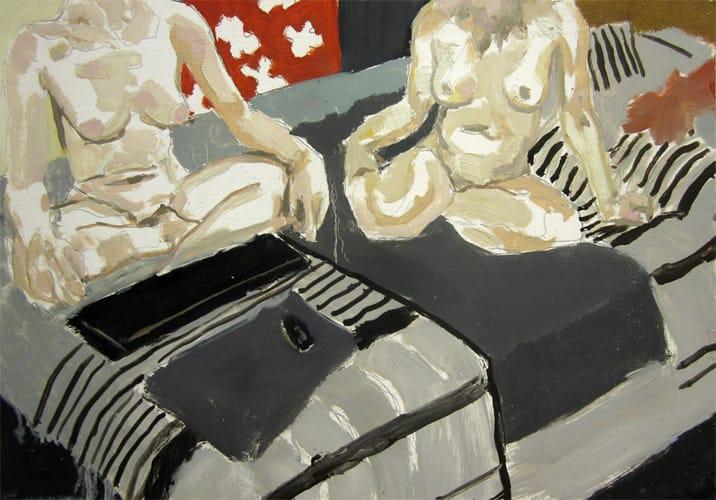 Live Show 16.  Oil on wood, 60 x 42 cm,  2011