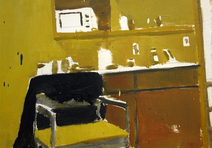 Live Show 17.  Oil on wood, 60 x 42 cm,  2011