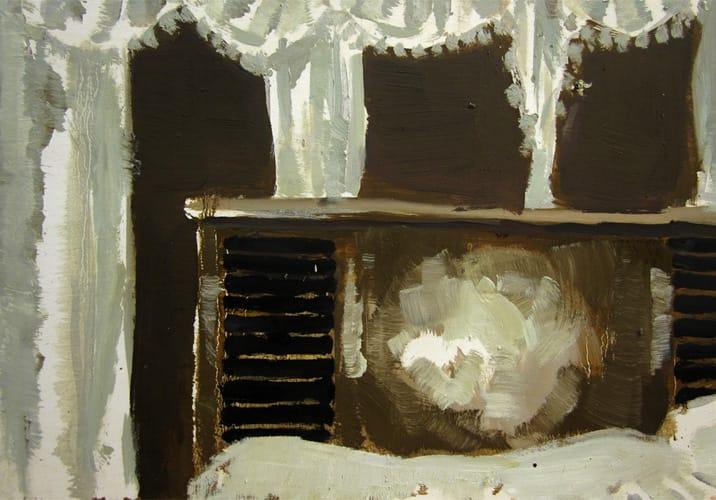 Live Show 19.  Oil on wood, 60 x 42 cm,  2011