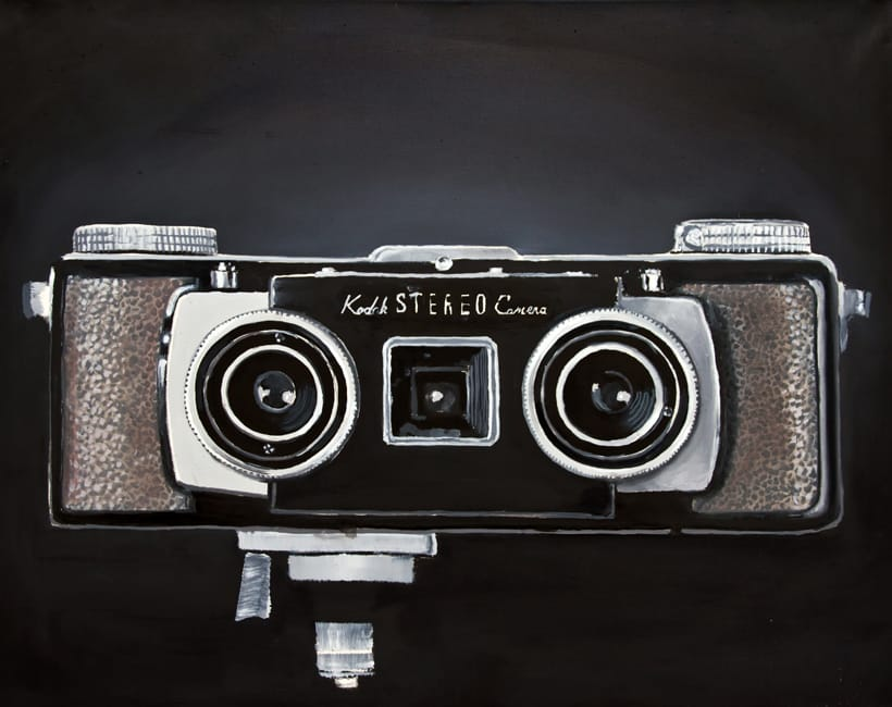Kodak Stereo Camera. Oil on canvas, 100 x 80 cm, 2014
