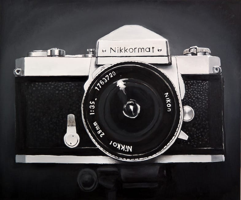 Nikkormat. Oil on canvas, 120 x 100 cm, 2014