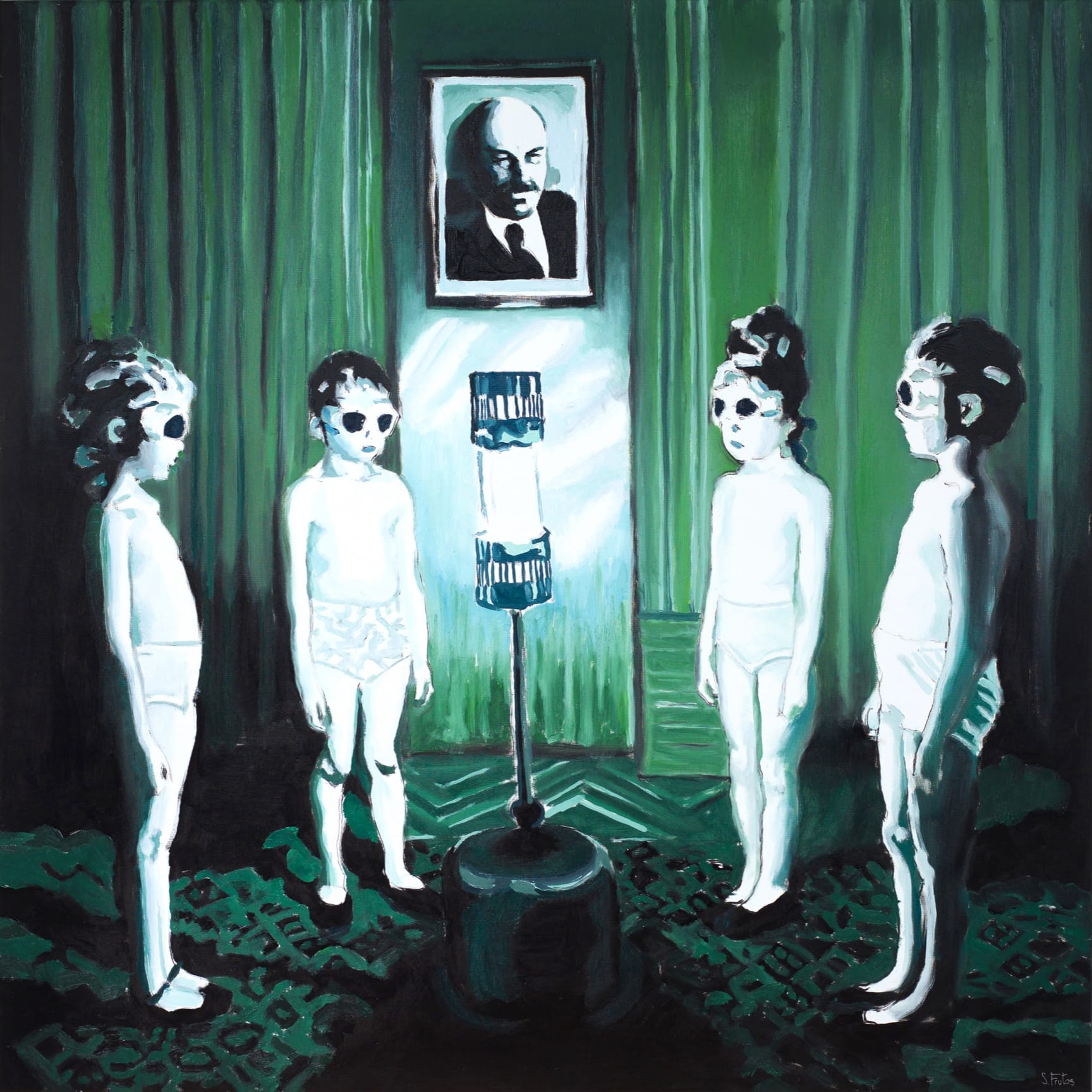 UVA Kids III. Oil on canvas, 120 x 120 cm, 2018