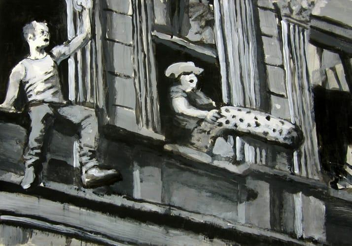 1. Mai.  Gouache on paper, 100 x 70 cm,  2012
