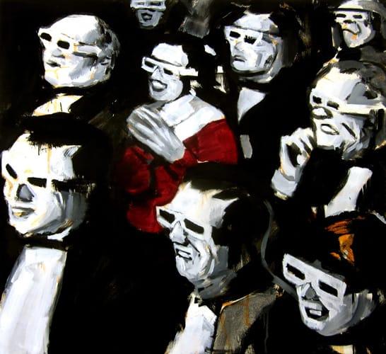 3D Kino II.  Oil on canvas, 130 x 110 cm,  2012