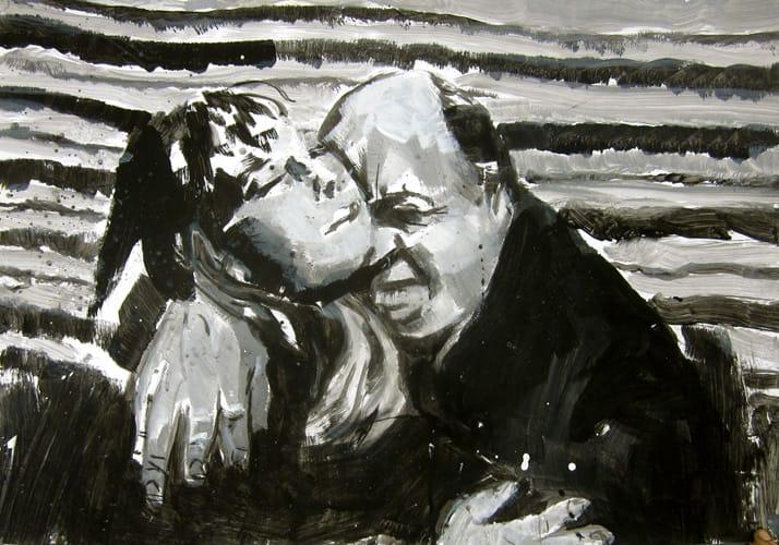 Alphaville.  Gouache on paper, 100 x 70 cm,  2011
