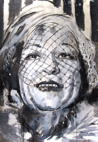 Portrait I.  Gouache on paper, 70 x 100 cm,  2011