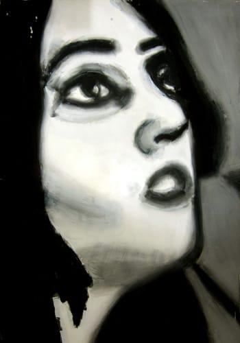 Portrait II.  Gouache on paper, 70 x 100 cm,  2011