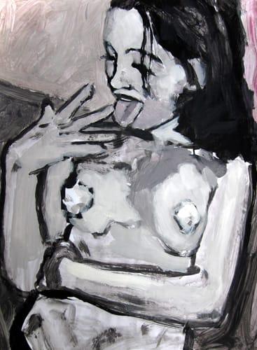 Portrait IV.  Gouache on paper, 70 x 100 cm,  2011