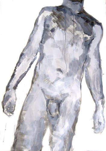Portrait V.  Gouache on paper, 70 x 100 cm,  2011