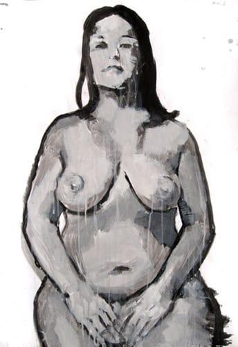Portrait VI.  Gouache on paper, 70 x 100 cm,  2011