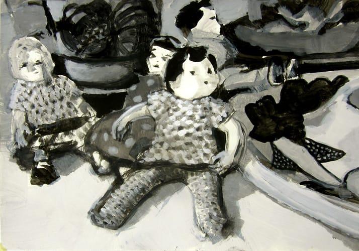 Puppe.  Gouache on paper, 100 x 70 cm,  2012