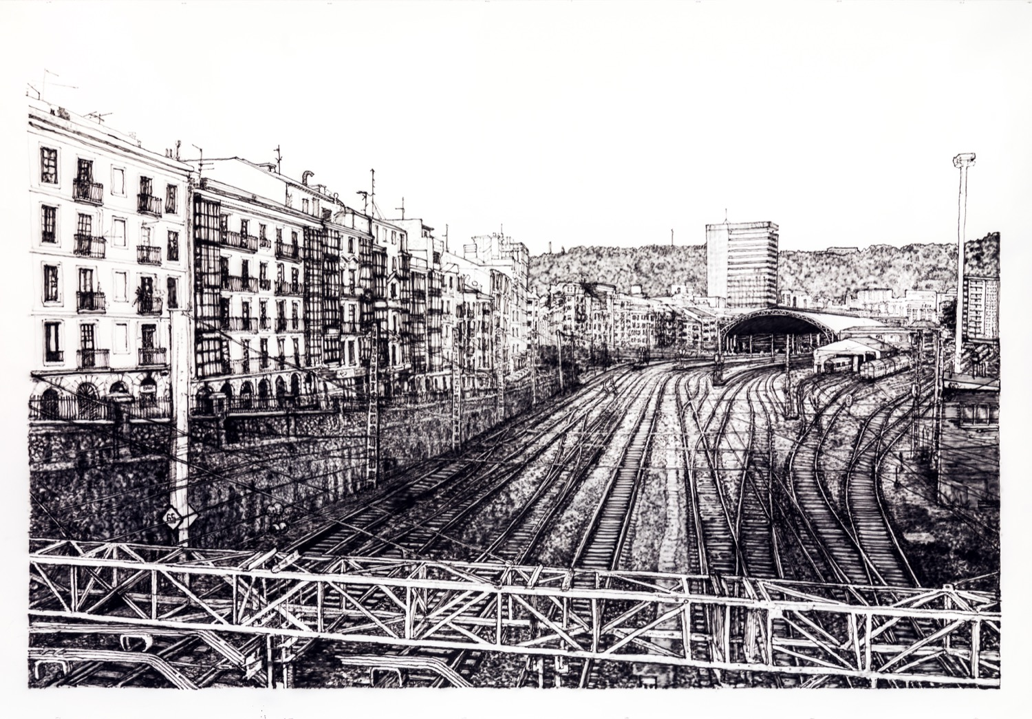 Abando. Ink on paper, 280 x 196 cm, 2020