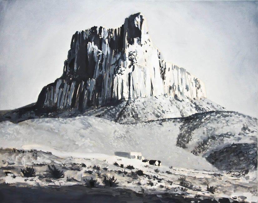 Ahaggar. Oil on canvas, 100 x 80 cm, 2014