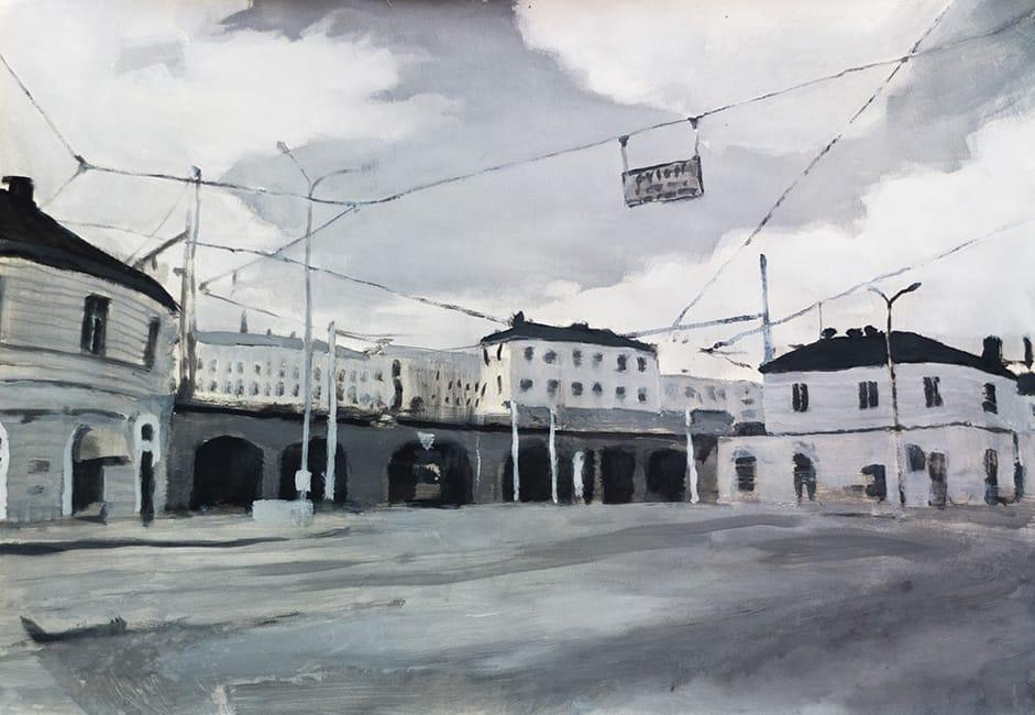 Brno. Gouache on paper, 100 x 70 cm, 2013