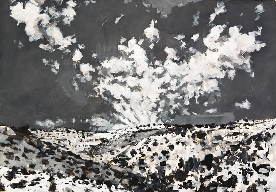 Creek.  Gouache on paper, 100 x 70 cm,  2013