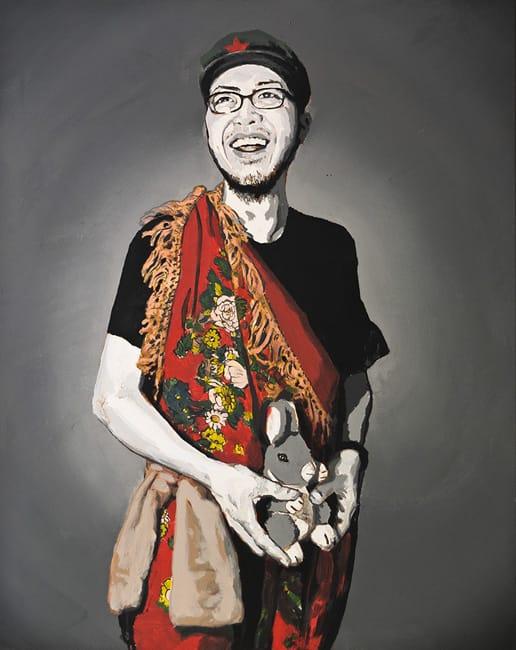 Herr Zhang.  Acrylic on canvas, 80 x 100 cm,  2013