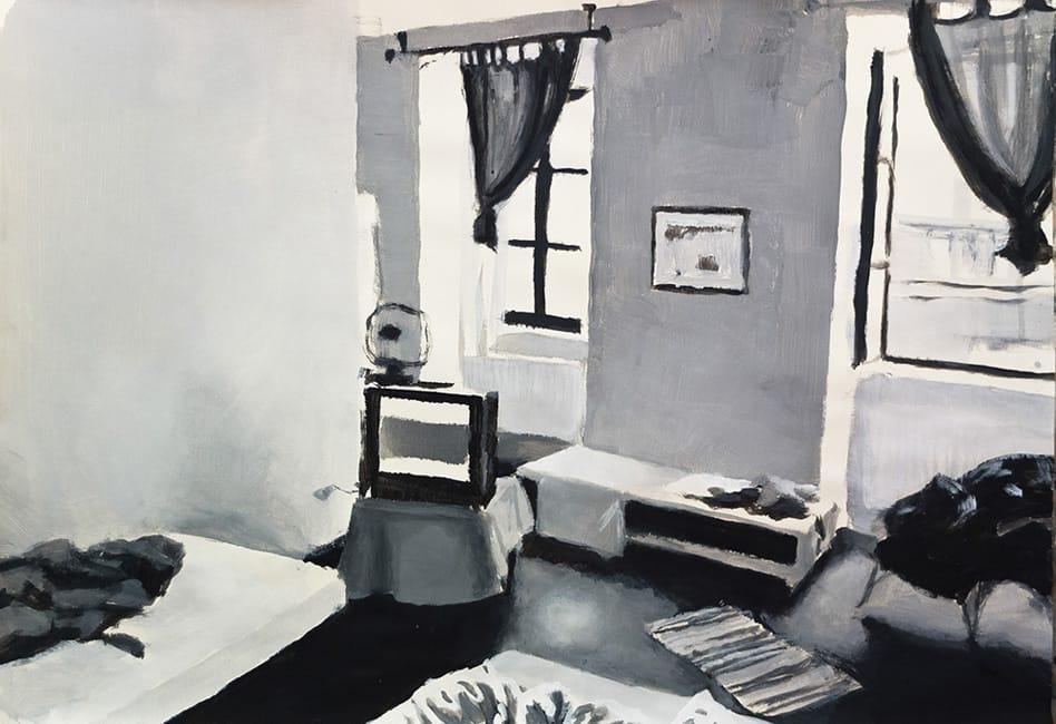 Hotel Room. Gouache on paper, 100 x 70 cm, 2013