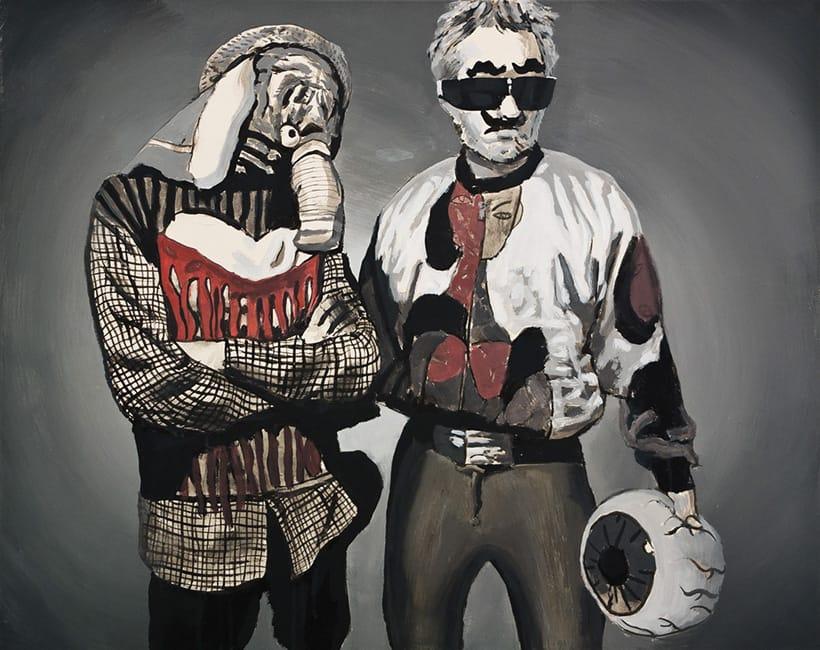 Neue Helden.  Acrylic on canvas, 100 x 80 cm,  2013